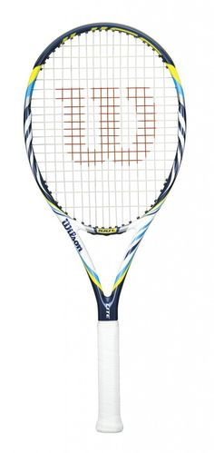 Wilson Juice 100 Lite   This racquet is best suited to more advanced juniors or adults looking for a lighter more comfortable racquet that packs a punch.  $219.00 Wilson Tennis Racquets, Tennis Racket, Tennis Federer, Tennis Shop, Lighter, Punch, Hobbies, Sporty, Tennis