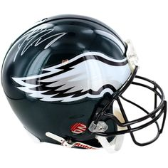LeSean McCoy Signed Philadelphia Eagles Full Size Proline Helmet - Shady McCoy personally hand-signed this Authentic Full-Size Philadelphia Eagles Proline Helmet. LeSean McCoy a 2nd round draft pick in 2009 out of Pittsburgh is the superstar RB of the Philadelphia Eagles. McCoy was drafted to replace Brian Westbrook a Philadelphia fan favorite and he has done nothing but produce since coming into the league. After assuming the starters role in 2010 McCoy rushed for 1080 yards go along with…