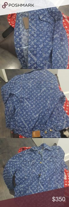 Supreme x lv denim jacket..open to offers Best offer takes this amazing quality jacket, sized xl but fits like a large and a bit more, unisex design, no major flaws, will be taking highest offer, price will let negotiations begin for all... Supreme Jackets & Coats