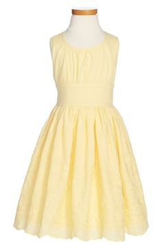 Zunie Embroidered Sleeveless Cotton Dress (Toddler Girls, Little Girls & Big Girls) available at #Nordstrom