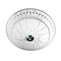 Plafondi Kompass Ø 360x170 mm lasi valkoinen kuvioitu