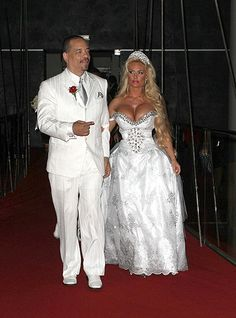 I think this dress may be too small for her. Couples Fab: Ice-T And CoCo Renew Their Wedding Vows in Hollywood Celebrity Wedding Photos, Celebrity Couples, Celebrity Weddings, Ugly Wedding Dress, Wedding Bridesmaid Dresses, Wedding Vows, Wedding Attire, Wedding Fun, Wedding Ideas