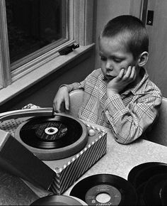 bored record kid