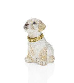Luna Golden Retriever Puppy Crystal Minaudiere by Judith Leiber