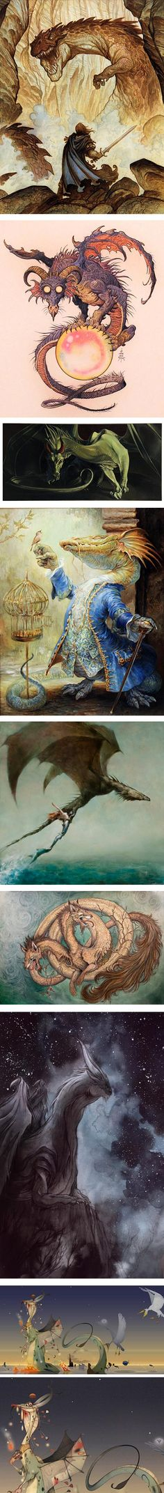 Breath of Embers: Art of Dragons at Gallery Nucleus - Justin Gerard, William Stout, Heather Theurer, Omar Rayyan, Eric Velhagen, Caitlin Hackett, Cory Godbey, Olivier Tossan