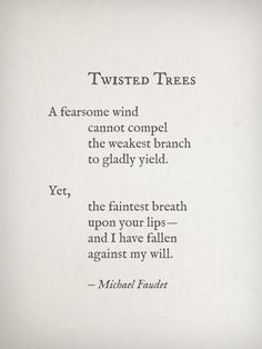 Twisted Trees by Michael Faudet