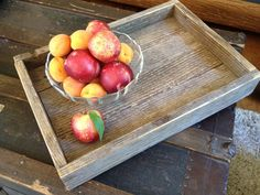 Rustic reclaimed wood trays