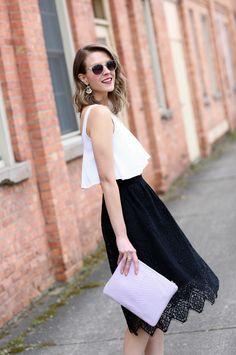 @hm lace midi skirt