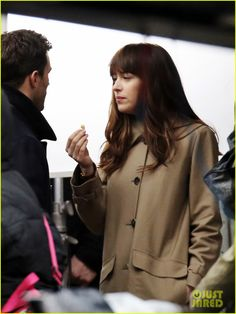 Dakota Johnson & Jamie Dornan Film Another 'Fifty Shades Darker' Kissing Scene!