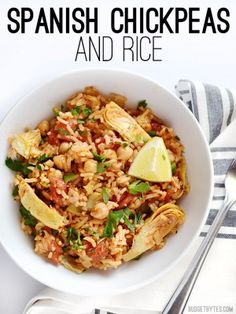 Spanish Chickpeas and Rice - BudgetBytes.com - DELICIOUS and easy!
