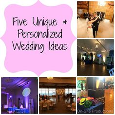 Unique & Personalized Wedding Ideas #AlabamaWeddings #BirminghamWeddings #WeddingDJ #UniqueWeddings