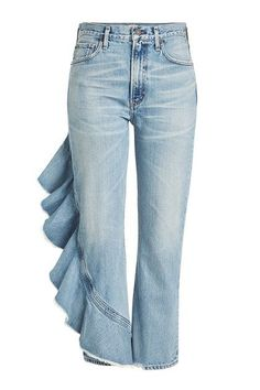CITIZENS OF HUMANITY - Cropped Jeans with Ruffle Trim | STYLEBOP