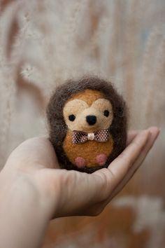 Needle Felted Hedgehog - Harry