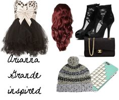 """""""Arianna Grande inspired"""" by holly-broadhurst ❤ liked on Polyvore"""