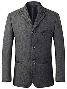 Vska Men 1 Button Wear to Work Premium Coat Jacket Business Blazers