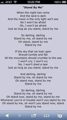 Stand By Me Lyrics: Shana surprised and picked this song for her dad at her wedding to Willy in Arizona. Daughter and dad dance. OMG it was priceless lyrics Great Song Lyrics, Song Lyric Quotes, Me Too Lyrics, Song One, Songs To Sing, Kids Songs, Me Me Me Song, Music Lyrics, Music Quotes