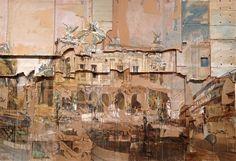Valery Koshlyakov, Grand Opera, Paris Tempera on cardboard © Valery Koshlyakov, 1995 Image courtesy of the Saatchi Gallery, London Saatchi Gallery, Cardboard Painting, Cardboard Sculpture, Cardboard Boxes, Decay Art, Russian Painting, Russian Art, Building Art, A Level Art