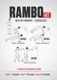 Rambo Workout #neilareyworkout