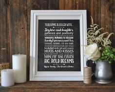 Digital Download - Personalized Family Quote - Family Wall Art - Family Rules - Family Printable - Family Print - Family Christmas Gift