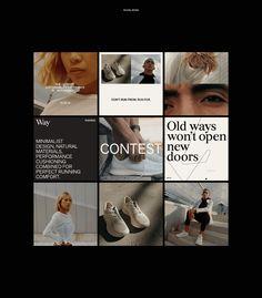 Way Running on Behance Instagram Feed Layout, Instagram Design, Instagram Grid, Instagram Ideas, Social Media Ad, Social Media Design, Feed Insta, Web Design Inspiration, Design Ideas