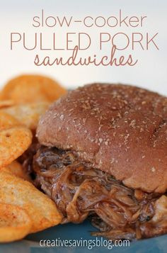 Put your slow-cooker to work with these oh-so-yummy pulled pork sandwiches. They're soft and tender, have a hint of spicy sweetness, and use one secret ingredient that makes this crockpot recipe a dinner-time favorite!