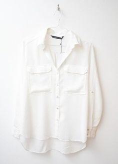 Kup mój przedmiot na #vintedpl http://www.vinted.pl/damska-odziez/koszule/16845596-biala-nowa-koszula-z-metka-zara