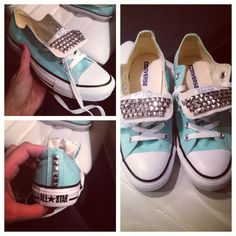 Custom studded Converse Chuck Taylors by Highfashionhipster, $95.00