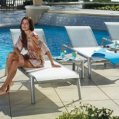 Set of Two Momentum Chaise Lounges - in brown