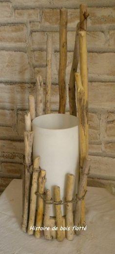 Les lampes - histoire de bois flotté