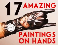 17 of The Most Awesome Paintings on Hands You've Ever Seen (kandeej.com):