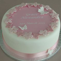 Personalised Girls Christening Cake Kit