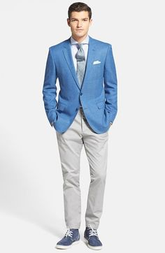 SpRiNg LoOkS!!! HUGO BOSS Wool Blazer, Stripe Dress Shirt & Slim Fit Chinos at Nordstrom.com.
