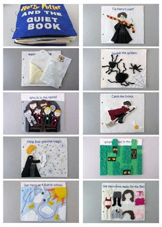 DIY Harry Potter and the Quiet Book -- with patterns. OH MY TOO AMAZING.