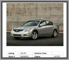 2011 Nissan Altima 2.5 Sedan  Abs Brakes, Occupant Sensing Airbag, Speed Control, Outside Temperature Display, Air Conditioning, Passenger Door Bin, Power Door Mirrors, 4-Wheel Disc Brakes, Variable Valve Control, 16 Wheels W/Full-Wheel Bolt-On Covers, Split Folding Rear Seat, Front Anti-Roll Bar, Rear Window Defroster,