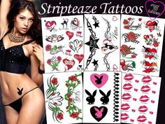 Stripteaze Tattoos Package * Visit the image link more details. Note:It is Affiliate Link to Amazon.