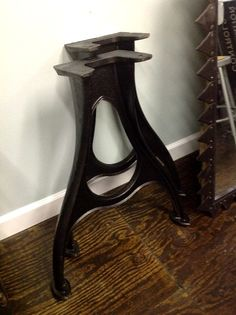 Cast Iron Table Legs - Industrial style Hand Cast. $750.00, via Etsy. Industrial Home Design, Industrial House, Industrial Furniture, Industrial Style, Diy Table, Dining Table, Cast Iron Table Legs, Garage Makeover, Iron Furniture