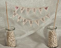 Items similar to Just Married Wedding Cake Topper Banner with Custom Color Glittered Hearts, bakers banner on Etsy Wedding Cake Toppers, Wedding Cakes, Always A Bridesmaid, Wedding Inspiration, Wedding Ideas, Glitter Hearts, Just Married, Wedding Bells, Rustic Wedding