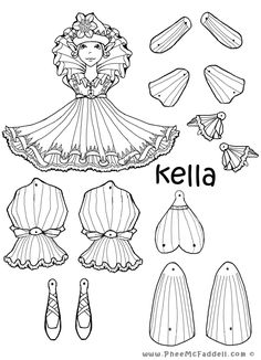 Kella Fairy Puppet to Color, Cut Out, & Assemble