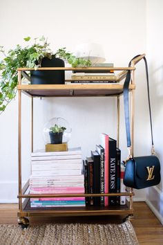 barcart bookshelf via Homepolish x Fashiontoast
