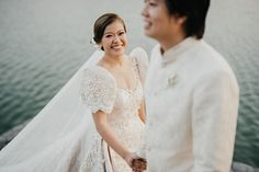 gown philippines You Will Fall in Love with This Regal Filipiniana Wedding in Bataan! Simple Church Wedding, Simple Wedding Gowns, Wedding Dress Trends, Elegant Wedding Dress, Perfect Wedding Dress, Wedding Looks, Wedding Dresses, Wedding Blog, Diy Wedding