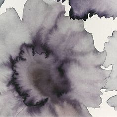 Specialty & Metallic Bloom 7191-l in Violet Grey on White Paper Weave