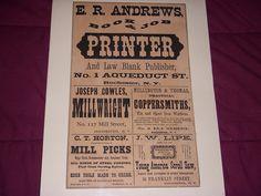 "Type Specimen, probably 1880s. Printer= ""15-Line Streamer No. 66, by Page, or Hamilton No. 367."""