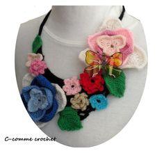 Collier Plastron hivernal au crochet : Collier par c-comme-crochet