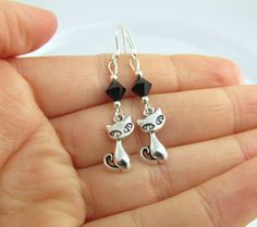 Cat Earrings choose a color Cat Jewelry Siamese by BeadBrilliant