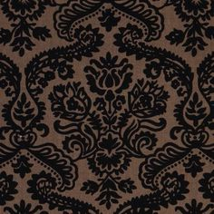 Michael Miller fabric Dainty Damask brown-black  beautiful brown-black fabric with ornaments from the USA
