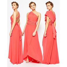 Coast Corwin V Neck Maxi Dress in Coral ($193) ❤ liked on Polyvore featuring dresses, orange, v neck bodycon dress, maxi dress, red bodycon dress, red v neck dress and orange bodycon dress