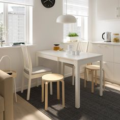 Home Decorating Style 2019 for Ikea Kitchen Table And Chair Sets, you can see Ikea Kitchen Table And Chair Sets and more pictures for Home Interior Designing 2019 at Kitchen Tips. Ikea Small Kitchen, Small Kitchen Tables, Table For Small Space, Small White Dining Table, Kitchen Dining, Small Spaces, Kitchen Ideas, Ikea Dining Table Set, Table And Chair Sets