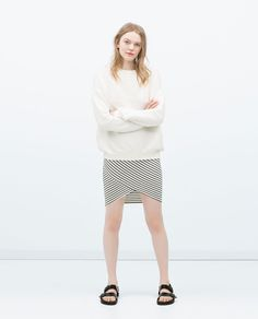 Image 1 of CROSSOVER MIDI SKIRT from Zara