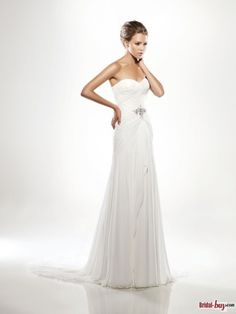 casual wedding dresses with chiffon, flattering~~~