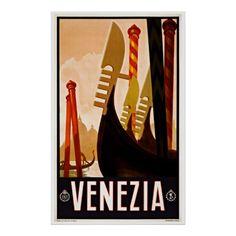 Venetië Venezia Italië - de Vintage Posters van de